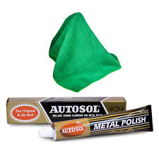 Autosol Solvol Chrome Metal Alu Cleaner & Polish + Microfibre Polishing Cloth
