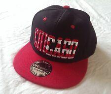 Casquette Chicogo Amérique noir rouge drapeau USA dans les lettres Cap Kappe