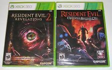 XBox 360 Game Lot - Resident Evil Revelations 2 (New) Operation Raccoon City NEW