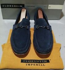 New Florsheim Imperial Parker 11 D sky blue sueded leather (678)