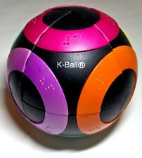 K-ball sphere like crazee ball with braille 2x2 Rubik's cube