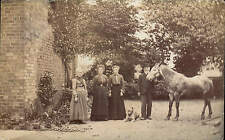 Skirlaugh posted & Ellerby written Group, Horse & Dog. Card written by A. Porter