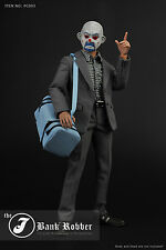 New 1/6 Joker Clown Bank Robber Male Clothes Set s F 12'' Action Figure