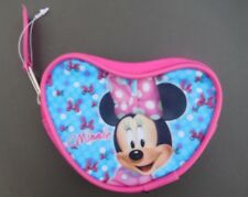 Mini Coin Purse Featuring Disney Mininie Mouse -Heart-Shaped-Light Blue & Pink