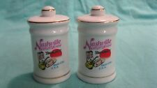 White Cylinder Nashville TN Music City Salt and Pepper Shakers Ceramic        48