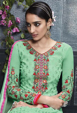 Designer Pure Georgette Salwar Kameez Green Color Best Quality Party Wear Suit