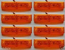 8 pcs 12V 6 SMD LED Side Marker Orange Amber Indicators Lights Truck Trailer Bus