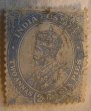 India Stamp 1913 Scott 99 A57  Two Anna Six Pies