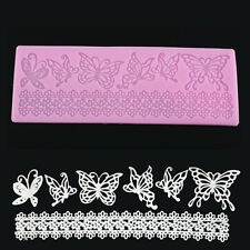 Silicone Butterfly Lace Fondant Cake Mould Baking Mold Chocolate DIY Craft Tools