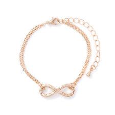 Modeschmuck Armband Infinity Unendlichkeit Ewige Liebe Freundschaft Farbe: Gold