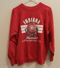 vtg Indiana Hoosiers Crewneck Sweatshirt 80s Logo 7 XL red NCAA basketball 50/50
