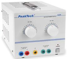 PeakTech 6125 AC/DC Labornetzgerät/Laboratory Power Supply 1 - 15 V/5 A