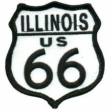 ROUTE 66 Illinois American Highway USA MC Embroidered Biker Vest Patch PAT-1572