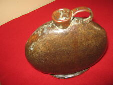 19th CENTURY CHINESE STONEWARE MOON FLASK.WONDERFUL EXAMPLE & CONDITION.