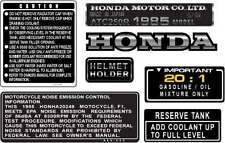 1985 85' honda ATC 250R vintage Frame stickers ATV decals logos trike 7pc