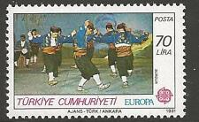 TURKEY SG2731 1981 FOLK DANCES 70l MNH