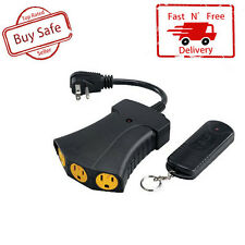 NEW Electric Wireless Remote Control Power Hub 3 Outlet Plug On Off Long Range