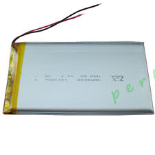 3.7V 8000 mAh Polymer Li Lithium cells Lipo For DVD PSP ipod Tablet PC 7565121