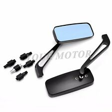 BLACK FINISH 8MM MOTORCYCLE REARVIEW MIRRORS FOR HARLEY Sportster XL 883 1200 MT