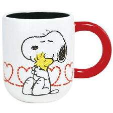 Peanuts Snoopy Hugging Woodstock with Heart Ring Ceramic 15 ounce Mug NEW UNUSED