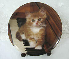 Kitten On The Keys Vintage 1993 Crestley Collection Plate Hand-Numbered