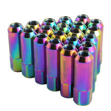 NEO CHROME EXTENDED FORGED ALUMINUM TUNER RACING LUG NUT FOR MUSTANG FORD 20PC
