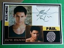 TWILIGHT PAUL ALEX MERAZ2009 SIGNATURE COLLECTION LMT ED STARZ CARDZ SERIES CARD