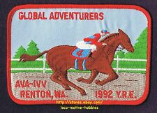 LMH PATCH Badge 1992 GLOBAL ADVENTURERS Walking Club IVV AVA Volkssport RENTON
