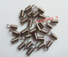 20pz coprinodo terminale 9X6mm nikel free colore argento scuro foro 4,5mm