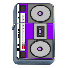 80's Theme D3 Flip Top Oil Lighter Windproof Resistant Flame Boom Box Cassette