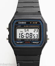 Casio F91W-1D Digital Watch Brand New & 100% Authentic NM