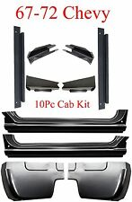 67 72 Chevy 10Pc Cab Repair Kit X-Rocker, Cab Corner, Inner & Floor Support