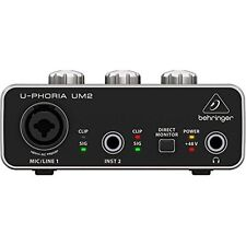 Behringer UM2 Audio Interface Recording Microphones and Instruments, New