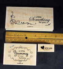 Stampin' Up YUMMY Stamp Set 3 pc(Never Used) Perfect for Baked Goods & Gifts