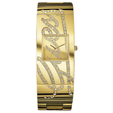 NEW GUESS WATCH for Women * Gold Tone AUTOTGRAPH Bangle Bracelet * U15045L1
