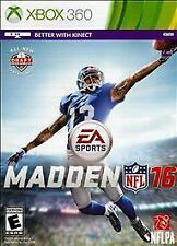 MADDEN NFL 16 MICROSOFT XBOX 360 GAME DISC AND CASE
