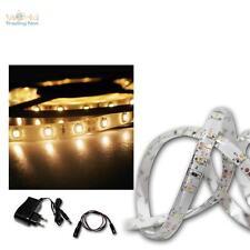 LED Bandeau lumineux Set 2, 4 m blanc chaud, SMD-Stripe + Transformateur, flex