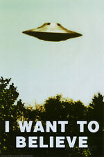 The X-Files - I Want To Believe UFO TV Poster Print, 24x36