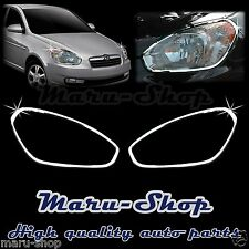 Chrome Headlight Lamp Cover Trim for 06~11 Hyundai Accent 4DR/3DR
