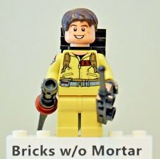 New Genuine LEGO Dr. Raymond Stantz Minifig with Proton Pack Ghostbusters 75827