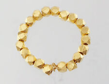 Karen hill tribe 24k Gold  Vermeil Style  20 Faceted Nugget Beads 3.2mm.