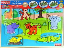 Fisher Price '2 In 1' Board Game Puzzle Brand New Gift