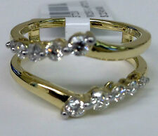 Solitaire Enhancer Diamonds Ring Guard Wrap 14k Yellow Gold Journey Curve Jared