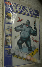 """Vintage Avalon Paint n Wear """"King Kong"""" #5131 RARE & Sealed  painting kit easy"""
