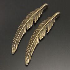 20pcs Vintage Bronze Vintage Alloy Cute Feather Shaped Craft Charm Pendant 02065