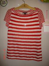 Women's Size Medium T-Shirt - Ralph Lauren red and white stripes
