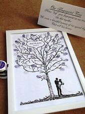 Wedding Fingerprint Tree A4 plus 2 ink pads PERSONALISED
