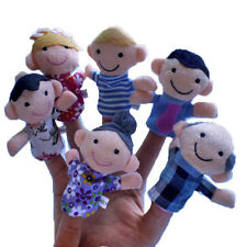 6Pcs New Soft Family Member Puppet Baby Finger Plush Toys