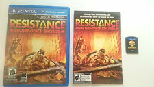 RESISTANCE BURNING SKIES SONY PSVITA PS VITA PLAYSTATION ESPAÑOL.BUEN ESTADO