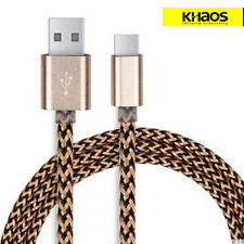 KHAOS Braided USB-C USB 3.1 Type C Male Data Sync USB Charger Cable 3FT Golden
